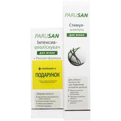 Стимул-шампунь PARUSAN (Парусан) для женщин при диффузном выпадении волос 200 мл + интенсив ополаскиватель для волос 125 мл