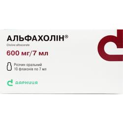 Альфахолин р-р орал. 600мг/7мл фл. 7мл №10