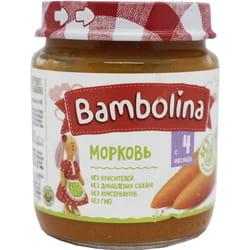 Пюре овощное детское BAMBOLINA (Бамболина) Морковь с 4-х месяцев 100 г