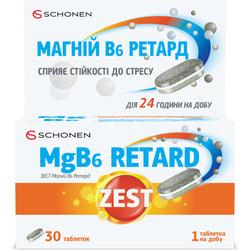 Витамины ZEST (Зест) Antistress MgB6 Retard (Антистресс MgB6 Ретард) таблетки упаковка 30 шт
