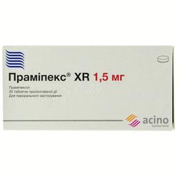 Прамипекс XR табл. прол. д-вия 1,5мг №30