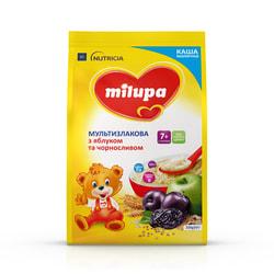 Каша молочная детская Нутриция Milupa (Милупа) Мультизлаковая с яблоком и черносливом с 7 месяцев мягкая упаковка 210 г