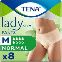 Подгузники-трусы для взрослых TENA (Тена) Lady Slim Pants Normal Medium (Леди Слим Пентс Нормал Медиум) 8 шт