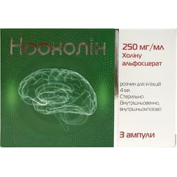 Ноохолин р-р д/ин. 250мг/мл амп. 4мл №3