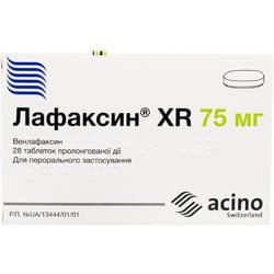 Лафаксин XR табл. прол. д-вия 75мг №28
