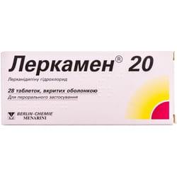 Леркамен 20 табл. п/о 20мг №28