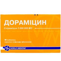 Дорамицин табл. п/о 3 000 000 МЕ №10