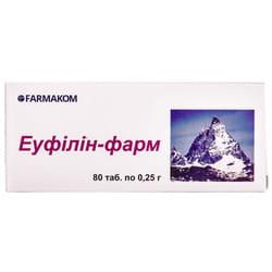 Таблетки для снятия приступов бронхиальной и сердечной астмы Эуфиллин-фарм 8 блистеров по 10 шт