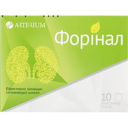 Форинал порошок для орального раствора для защиты мочевыводщих путей в пакет-саше по 3 г 10 шт