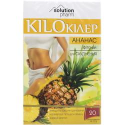 Кило Киллер Ананас фиточай для похудения в фильтр-пакетах по 1,5 г 20 шт Solution Pharm