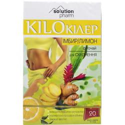 Кило Киллер Имбирь и лимон фиточай для похудения в фильтр-пакетах по 1,5 г 20 шт Solution Pharm