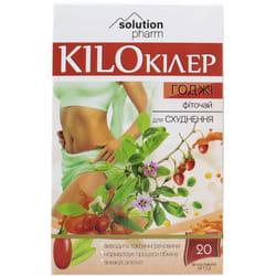 Кило Киллер Годжи фиточай для похудения в фильтр-пакетах по 1,5 г 20 шт Solution Pharm
