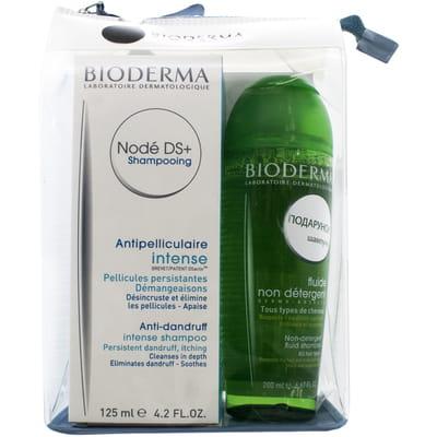 Набор BIODERMA (Биодерма) Шампунь-крем для волос Нодэ DS+ против перхоти 125 мл + Нодэ шампунь для волос 200 мл