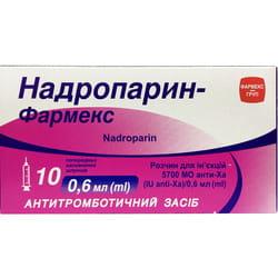 Надропарин-Фармекс р-р д/ин. шприц 0,6мл №10