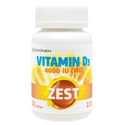 Витамины ZEST (Зест) Vitamin D3 (Витамин D3) 4000 капсулы 30 шт