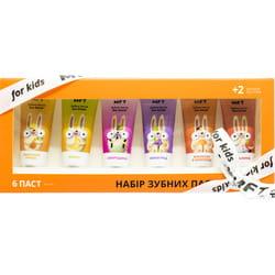 Набор детских зубных паст MFT (МФТ) в тубе по 25 мл 6 шт