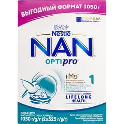 Смесь молочная детская NESTLE (Нестле) Нан 1 Optipro (Оптипро) с рождения 1050 г