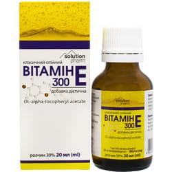 Витамин Е 300 класич. р-р масл. орал. 30% фл. 20мл Solution Pharm