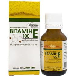 Витамин Е 100 класич. р-р масл. орал. 10% фл. 20мл Solution Pharm