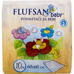 Пеленки гигиенические для детей FLUFSAN (Флуфсан) размер 60 см х 60 см 10 шт