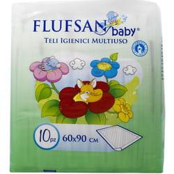 Пеленки гигиенические для детей FLUFSAN (Флуфсан) размер 60 см х 90 см 10 шт