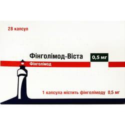 Финголимод-Виста капс. 0,5мг №28