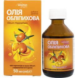 Облепиховое масло внутр. фл. 50мл в коробке Solution Pharm