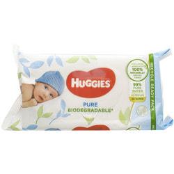 Салфетки влажные детские HUGGIES (Хаггис) Pure (Пьюр) Bio 56 шт