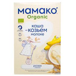 Каша молочная детская МАМАКО Органическая Рисовая с бананом на козьем молоке для детей с 6-х месяцев 200 г