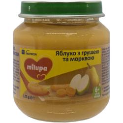 Пюре фруктовое детское Нутриция Milupa (Милупа) Яблоко, груша и морковка с 6-ти месяцев 125 г