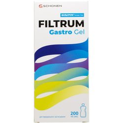 Фильтрум Гастро гель для перорального применения для уменьшения симптомов диареи, изжоги и вздутии живота флакон 200 мл