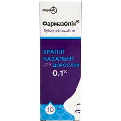 Фармазолин кап. назал. 0,1% фл. п/э 10мл