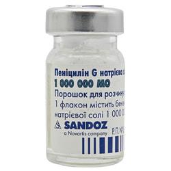 Пенициллин G Na соль Сандоз пор. д/р-ра д/ин. 1млн.МЕ №100