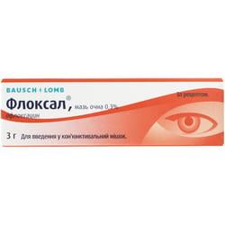 Флоксал мазь глаз. 0,3% туба 3г