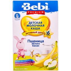 Каша молочная детская KOLINSKA BEBI (Колинска беби) Премиум Пшеничная с яблоком и бананом для детей с 6-ти месяцев 250 г