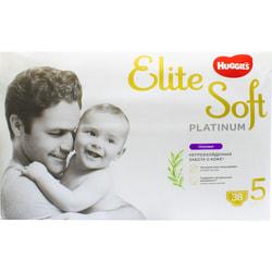 Подгузники-трусики для детей HUGGIES (Хаггис) Elite Soft (Элит софт) Platinum 5 от 12 до 17 кг 38 шт