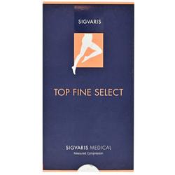 Гольфы компрессионные SIGVARIS (Сигварис) PLUS Top Fine Select артикул 46450 класс 2 с открытым мыском цвет черный размер S short