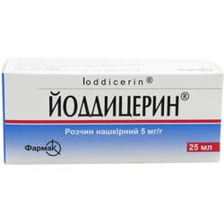 Йоддицерин р-р накож. фл. 25мл