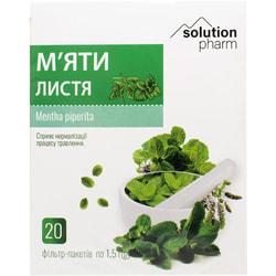 Мяты листья фильтр-пакет 1.5г №20 Solution Pharm
