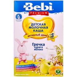 Каша молочная детская KOLINSKA BEBI (Колинска беби) Премиум Гречка курага и яблоко для детей с 5-ти месяцев 200 г