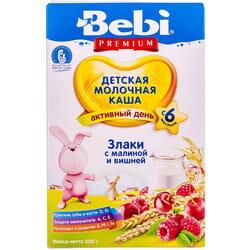 Каша молочная детская KOLINSKA BEBI (Колинска беби) Премиум Злаки с малиной и вишней для детей с 6-ти месяцев 200 г