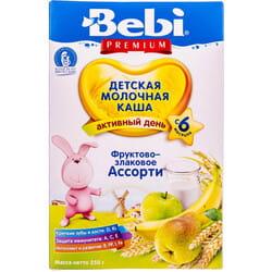 Каша молочная детская KOLINSKA BEBI (Колинска беби) Премиум Фруктово-злаковое ассорти 250 г