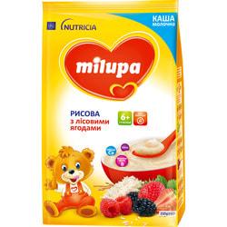 Каша молочная детская Нутриция Milupa (Милупа) Рисовая с лесными ягодами с 6-ти месяцев 210 г