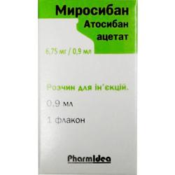 Миросибан р-р д/ин. 6,75мг/0,9мл фл. 0,9мл №1
