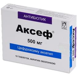 Аксеф табл. п/о 500мг №10