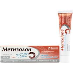 Метизолон крем д/наруж. прим. 1мг/г туба 15г