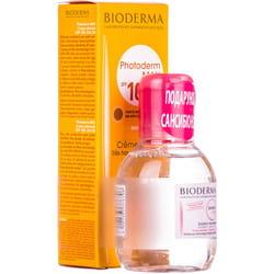 Набор BIODERMA (Биодерма) Фотодерм MAX крем тональный 40 мл и Сансибио H2O 100 мл