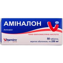 Аминалон табл. п/о 250мг №50