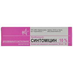 Синтомицин линимент д/наруж. прим. 100мг/г туба 25г
