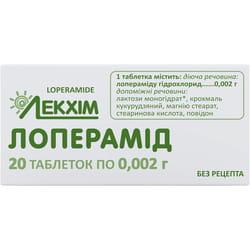 Лоперамид табл. 2мг №20